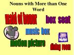 nouns with more than one word