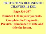 pretesting diagnostic chapter 11 eol