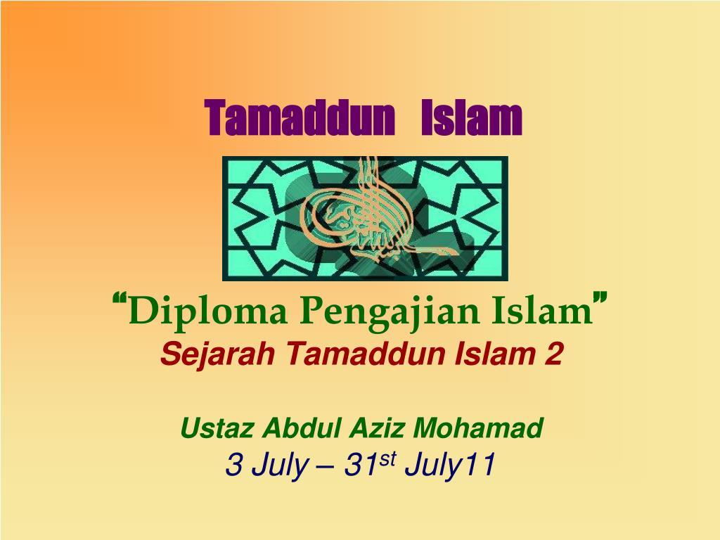tamaddun islam l.