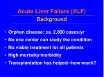 acute liver failure alf background