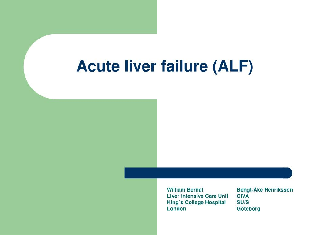 acute liver failure alf l.