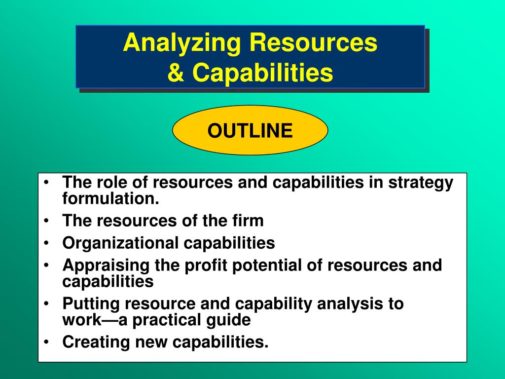 analyzing resources capabilities l.