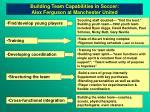 building team capabilities in soccer alex ferguson at manchester united