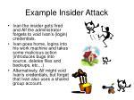 example insider attack