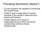 prevailing sentiments myths