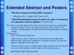 extended abstract and posters
