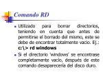 comando rd