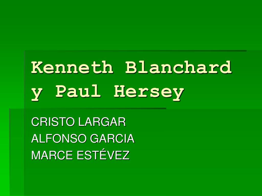 kenneth blanchard y paul hersey l.