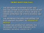 the not guilty plea cont