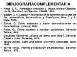 bibliograf acomplementaria