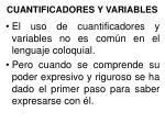 cuantificadores y variables