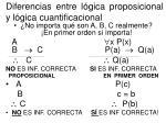 diferencias entre l gica proposicional y l gica cuantificacional
