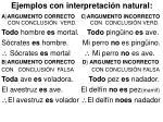 ejemplos con interpretaci n natural