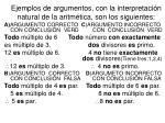 ejemplos de argumentos con la interpretaci n natural de la aritm tica son los siguientes