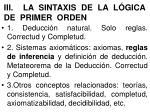 iii la sintaxis de la l gica de primer orden