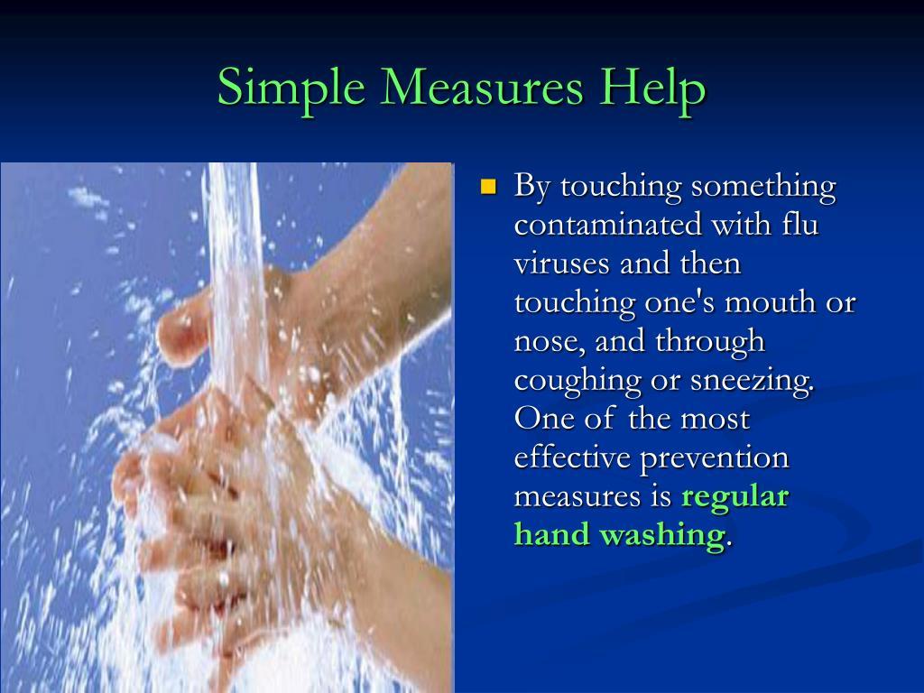 Simple Measures Help