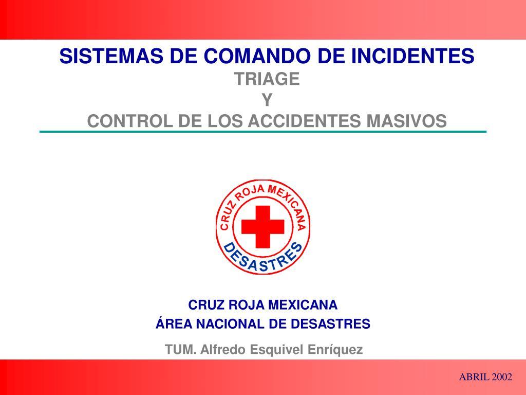 sistemas de comando de incidentes triage y control de los accidentes masivos l.