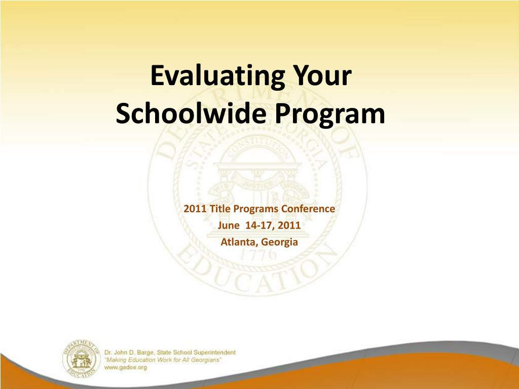 evaluating your schoolwide program l.
