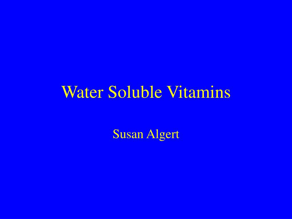 water soluble vitamins l.