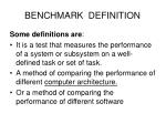 benchmark definition