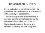 benchmark suites