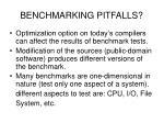 benchmarking pitfalls
