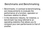 benchmarks and benchmarking6