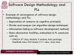 software design methodology and pls