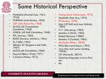 some historical perspective