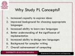 why study pl concepts