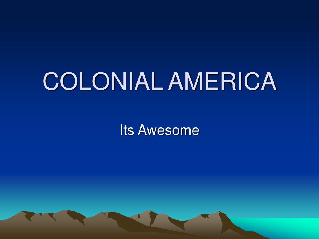 colonial america l.