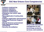 ssc new orleans core competencies