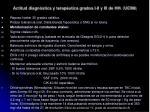 actitud diagn stica y terap utica grados i ii y iii de hh ucim