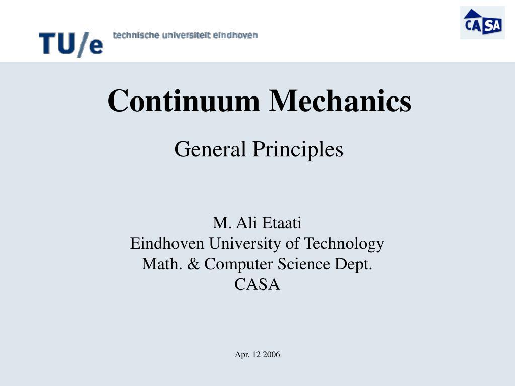 m ali etaati eindhoven university of technology math computer science dept casa apr 12 2006 l.