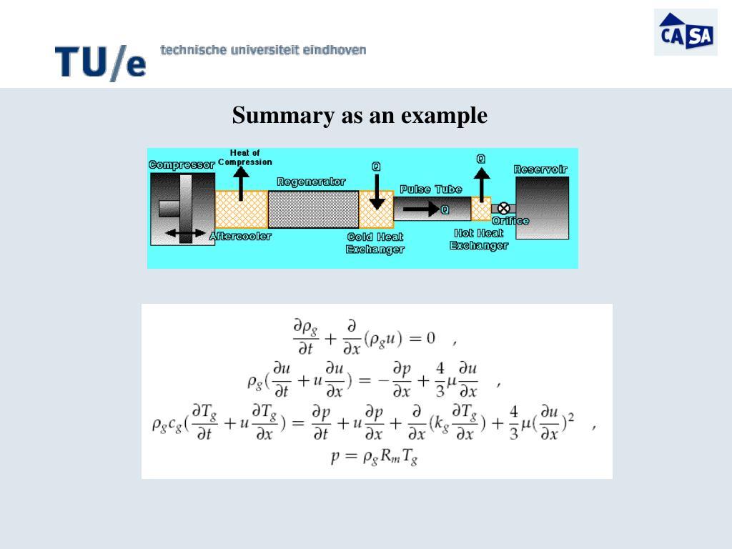 Summary as an example