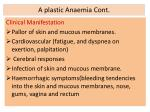 a plastic anaemia cont