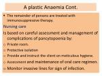 a plastic anaemia cont26