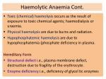 haemolytic anaemia cont30