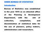 sindh bureau of statistics