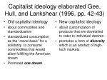 capitalist ideology elaborated gee hull and lankshear 1996 pp 42 43