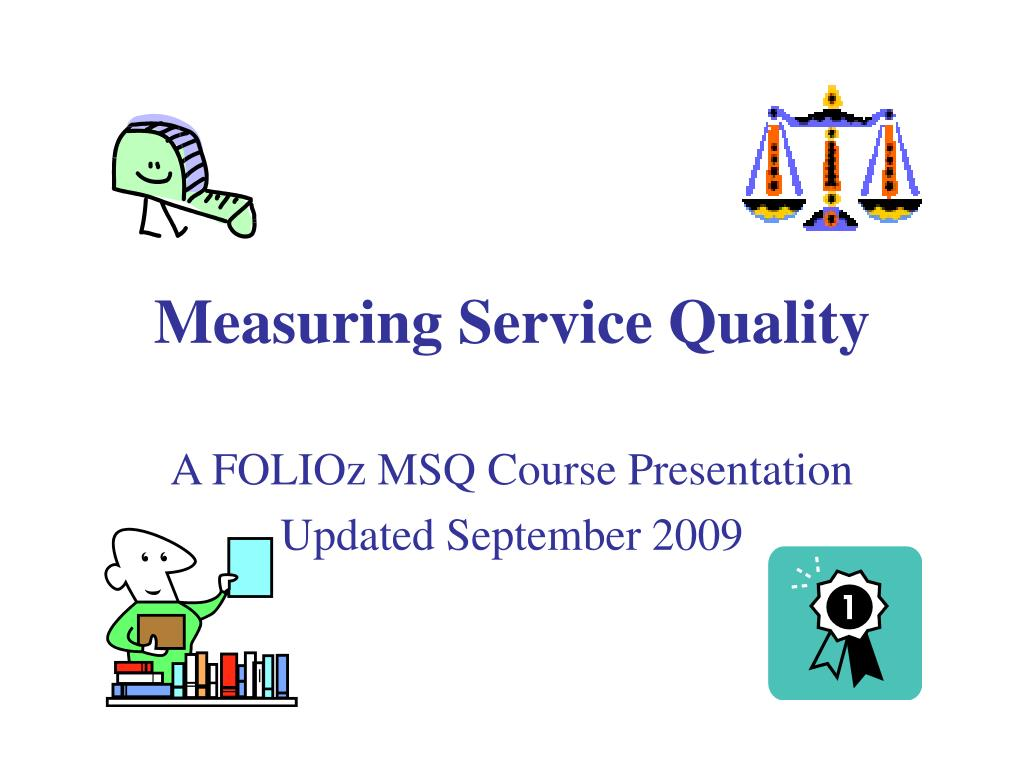 measuring service quality l.