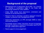 background of the proposal8