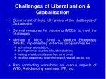 challenges of liberalisation globalisation