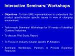 interactive seminars workshops