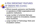 a few important features of india s nis contd17