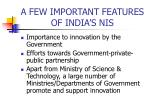 a few important features of india s nis