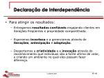 declara o de interdepend ncia1