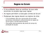 regras no scrum
