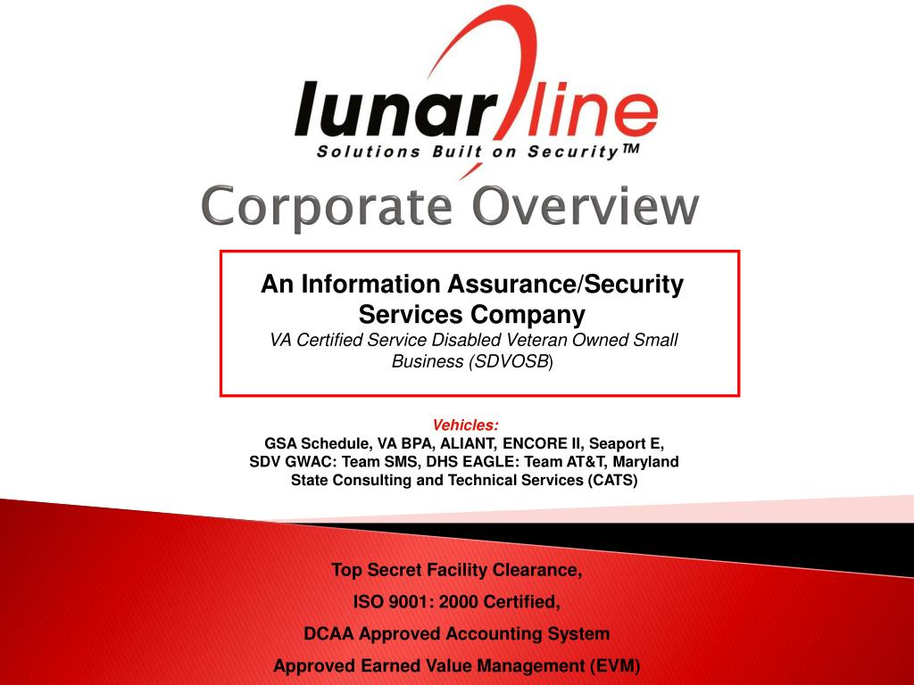 corporate overview l.