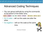 advanced coding techniques